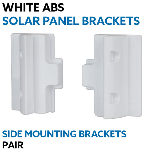 White ABS Solar Panel Side Mounting Brackets - Pair