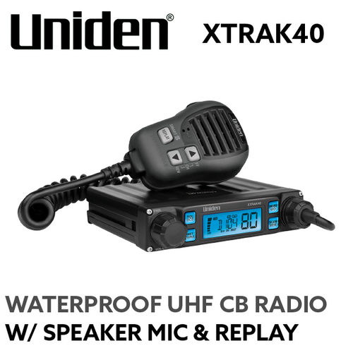 Uniden XTRAK40 UHF w/ Remote Speaker Mic and Replay
