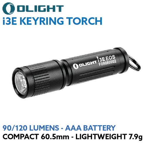 Olight i3E EOS 90/120 lumen AAA LED keyring torch